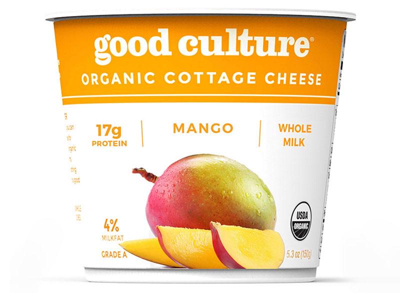 Good culture organic cottage cheese mango