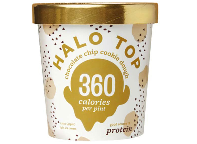 Halo top ice cream chocolate chip cookie dough