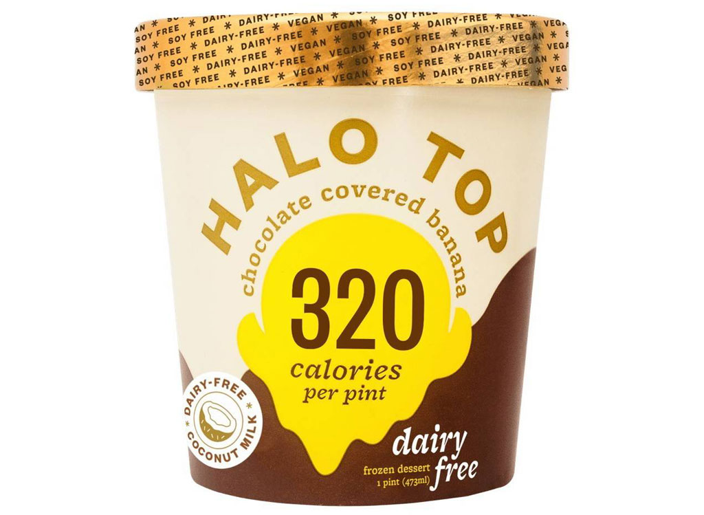 Halo top chocolate covered banana dairy free