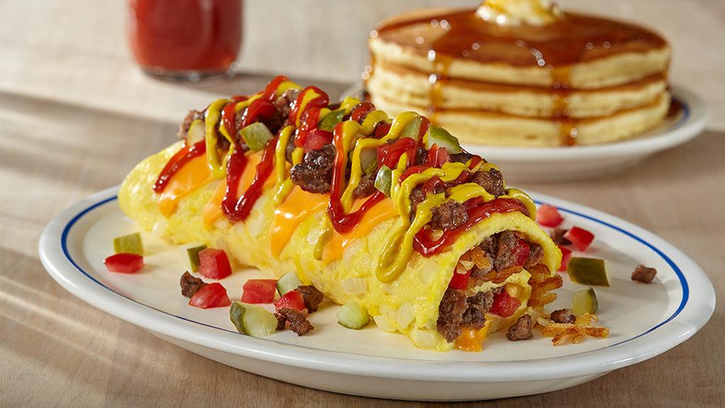 IHOP cheeseburger omelette