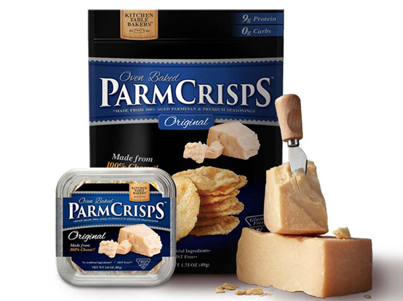 Kitchen table parmesan cheese crisps