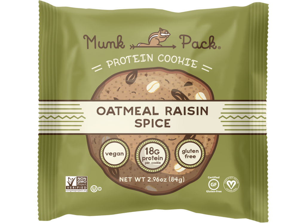 Munk pack protein cookie oatmeal raisin spice