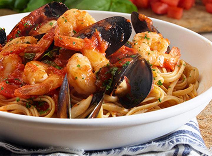 Olive Garden seafood pasta