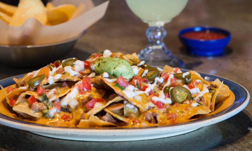 On the border stacked nachos