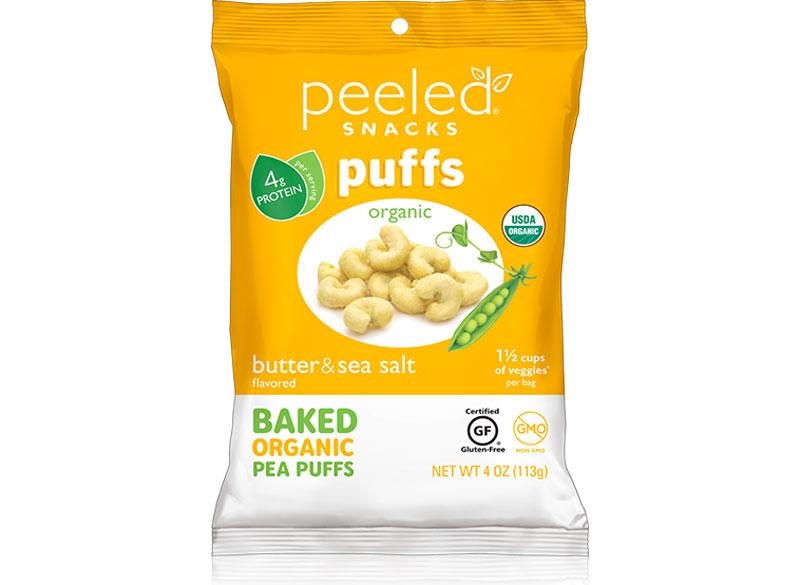 Peeled snacks baked pea puffs butter sea salt
