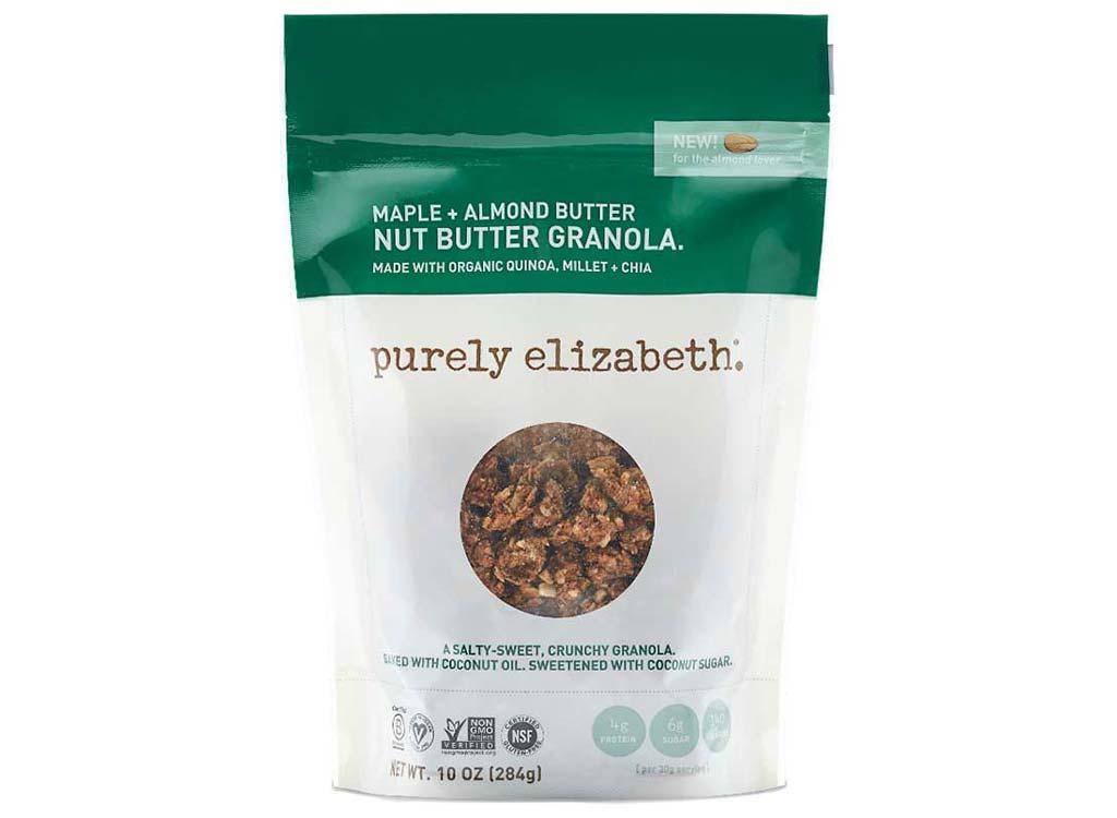 Purely Elizabeth maple almond nut butter granola