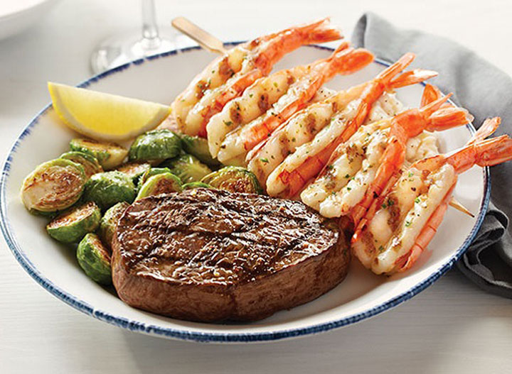 Red Lobster grilled sirloin and shrimp