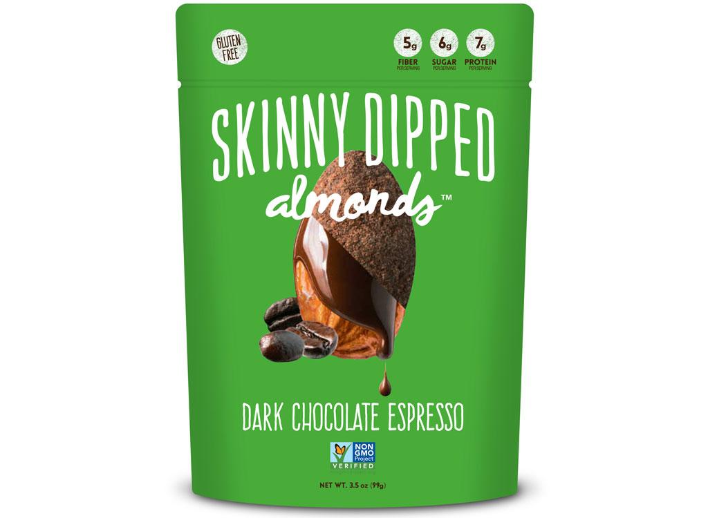 Skinny dipped almonds dark chocolate espresso