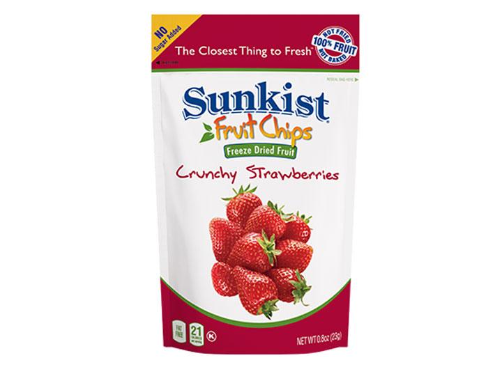 Sunkist fruit chips crunchy strawberries