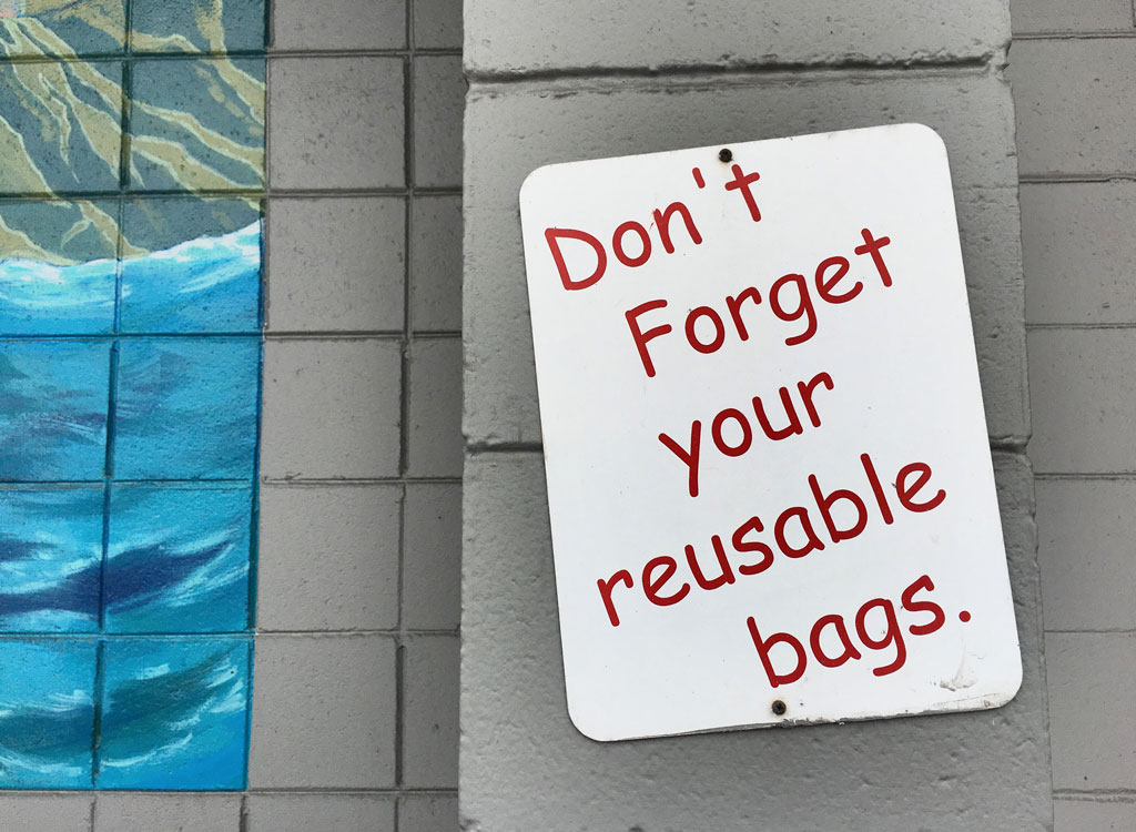 Trader joes dont forget reusable bages