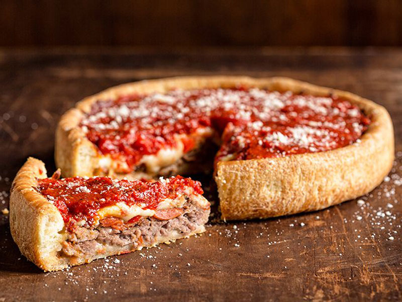 Uno chicago deep dish meat market pizza