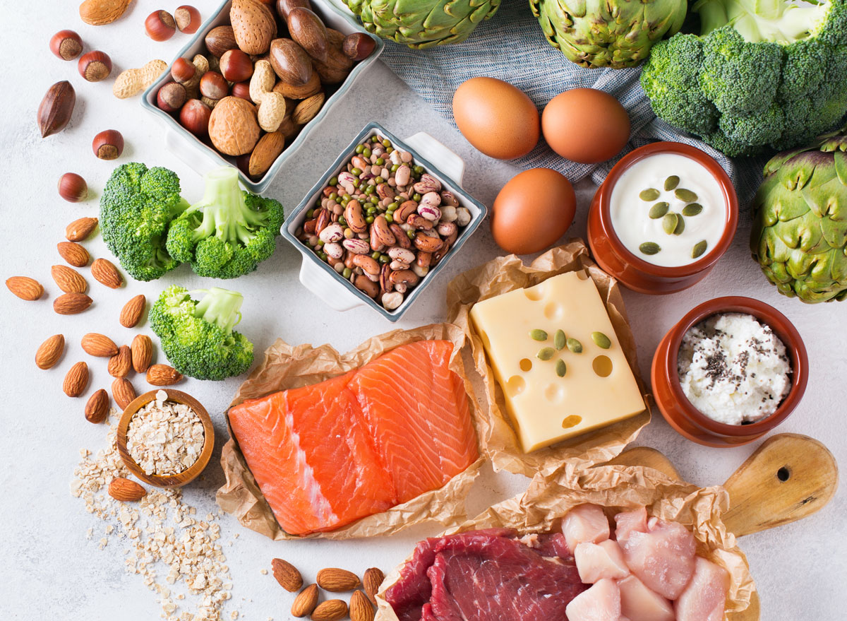High protein foods animal plant various protein sources