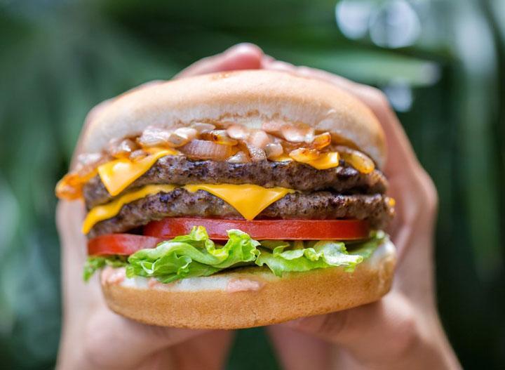 Carl junior double cheeseburger