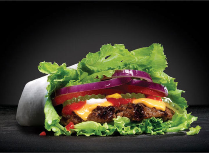 Carl junior lettuce wrapped thickburger
