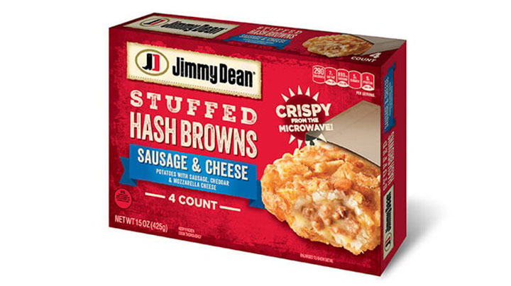 Jimmy Dean stuffed hashbrowns