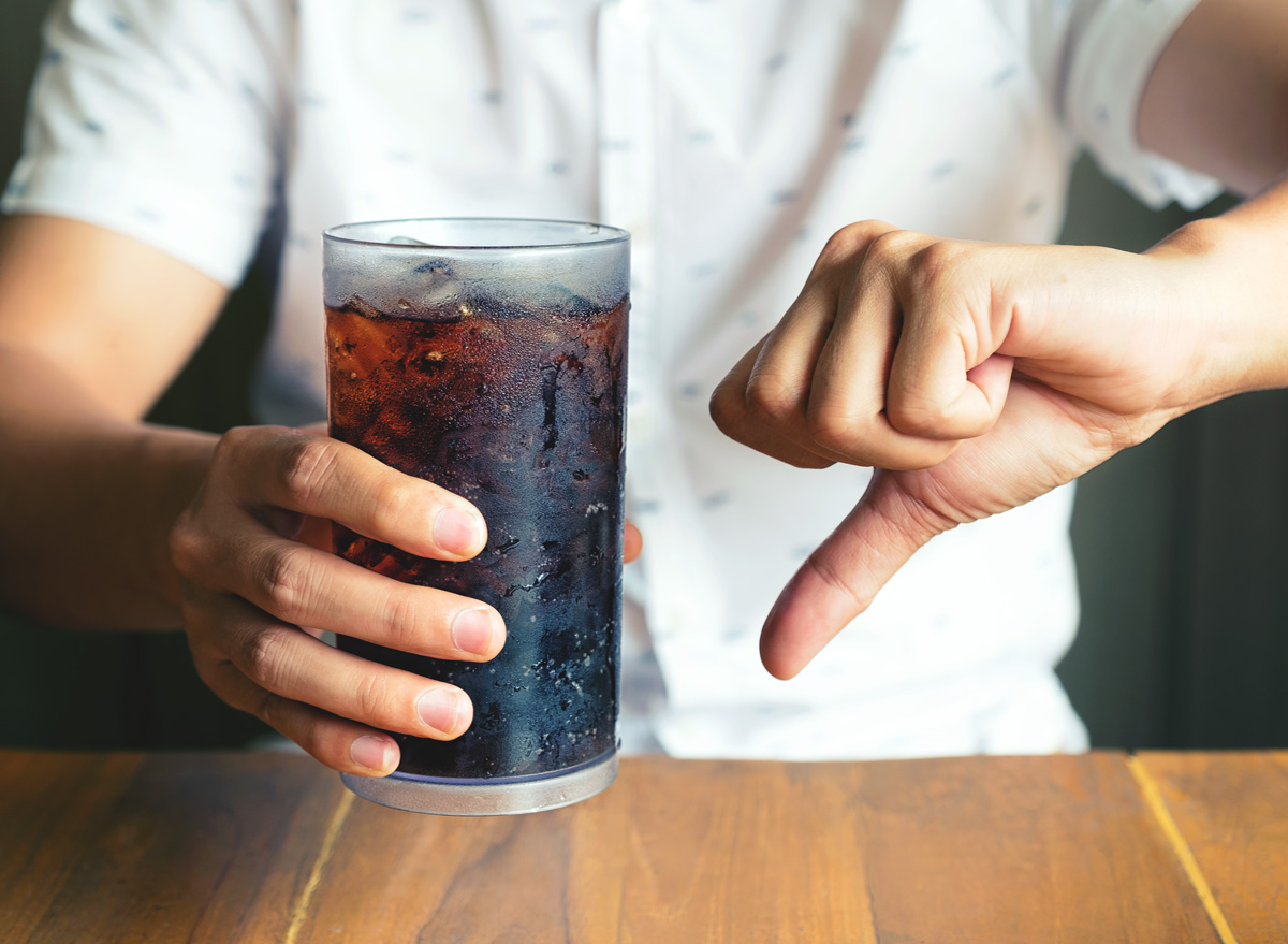 Say no to drinking soda stop drinking sugar