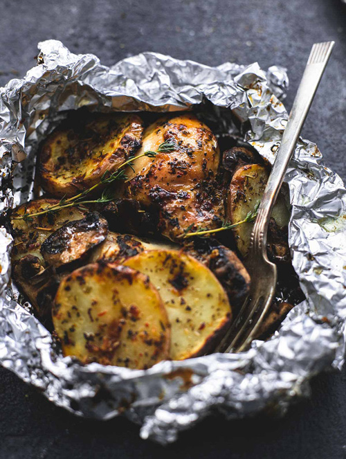 chicken potato foil pack
