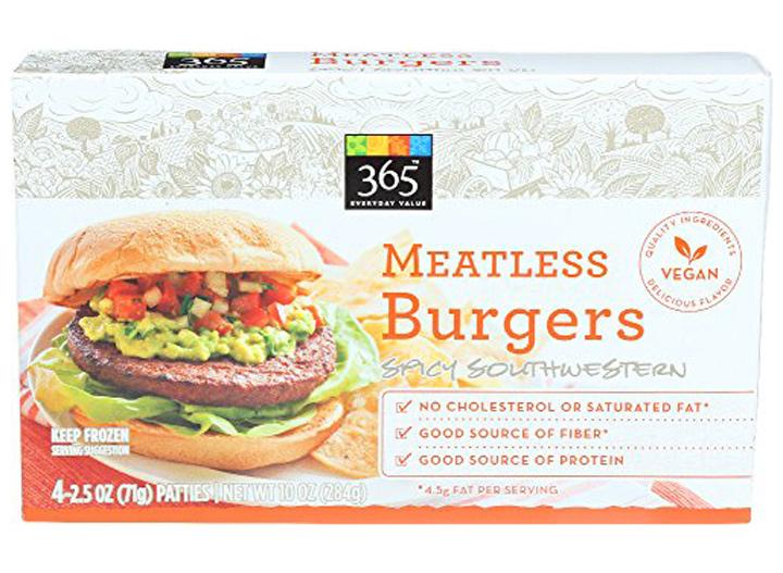 Whole Foods spicy southwestern veggie burger