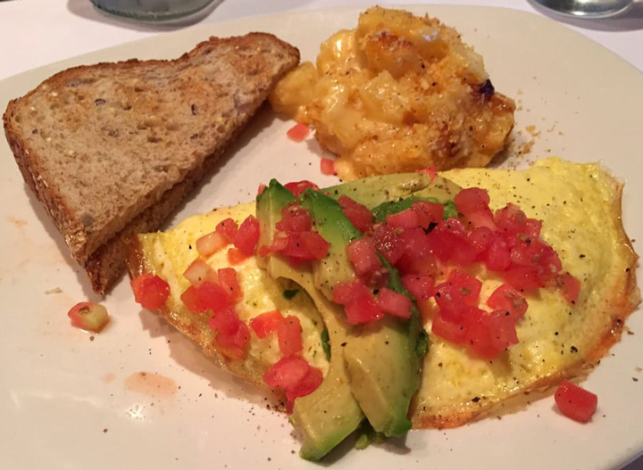 Bonefish grill california omelet and toast