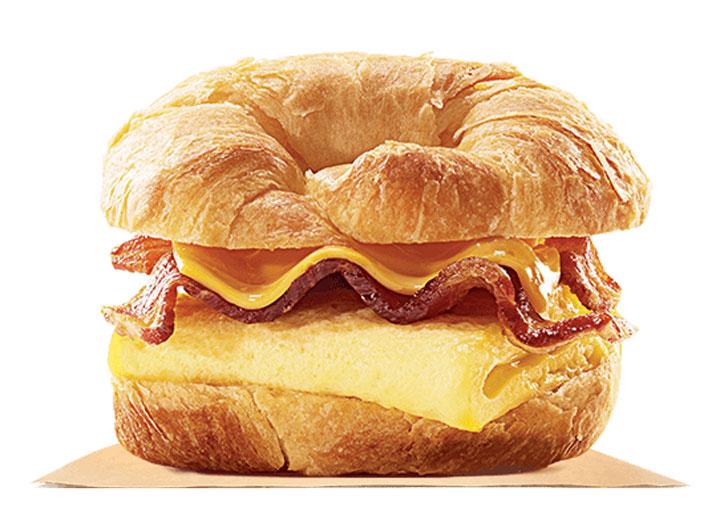 Burger king croissanwich bacon egg cheese