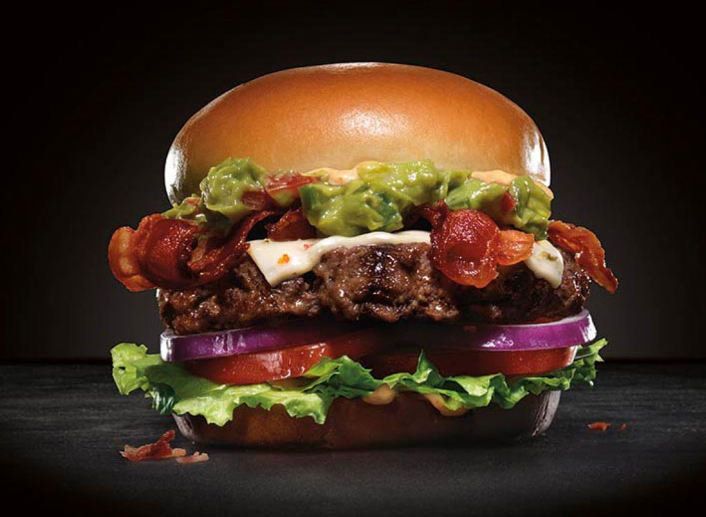 Carl's jr 1/2 lb guacamole bacon thickburger