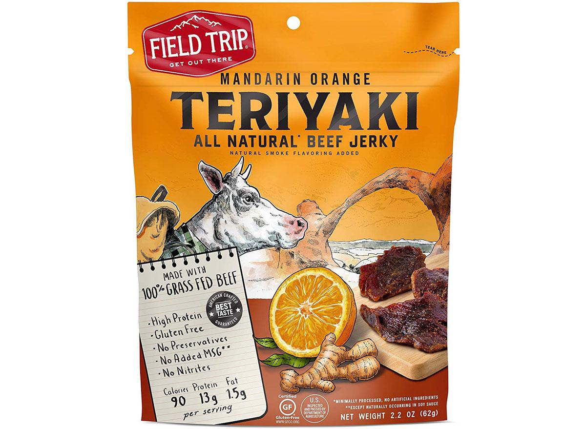 Field trip mandarin orange teriyaki beef jerky - best high protein snacks