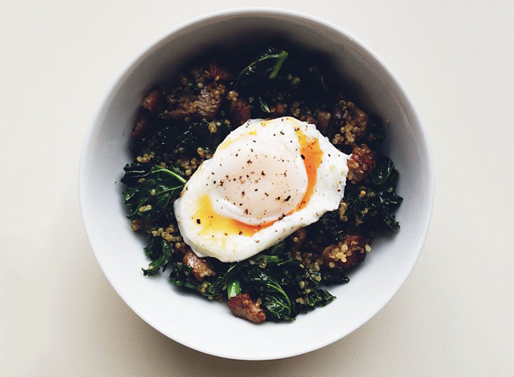 Kale quinoa egg