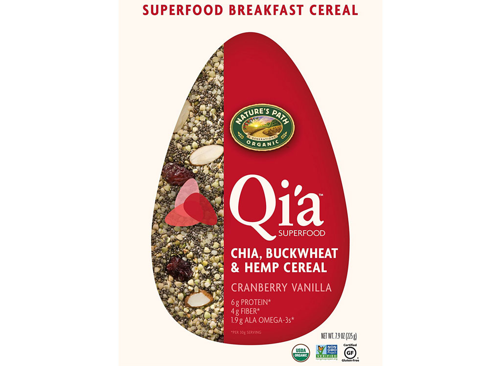 Natures Path Qia superfood breakfast cereal cranberry vanilla