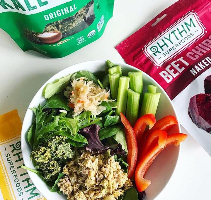 Rhythm superfoods chips salad