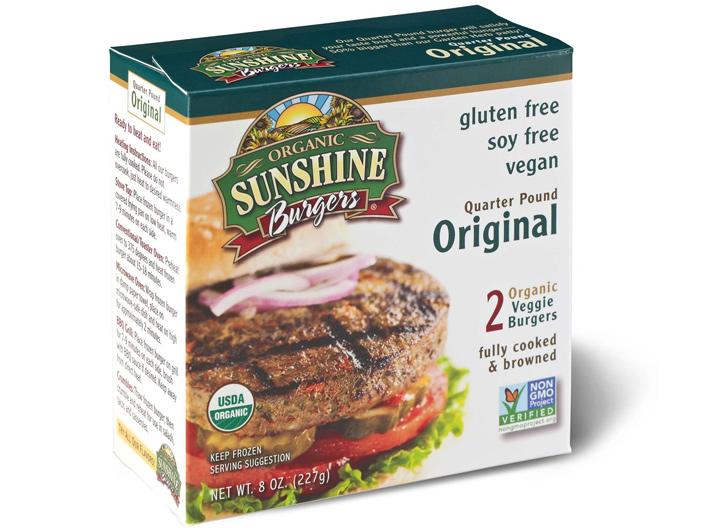 Sunshine original veggie burger