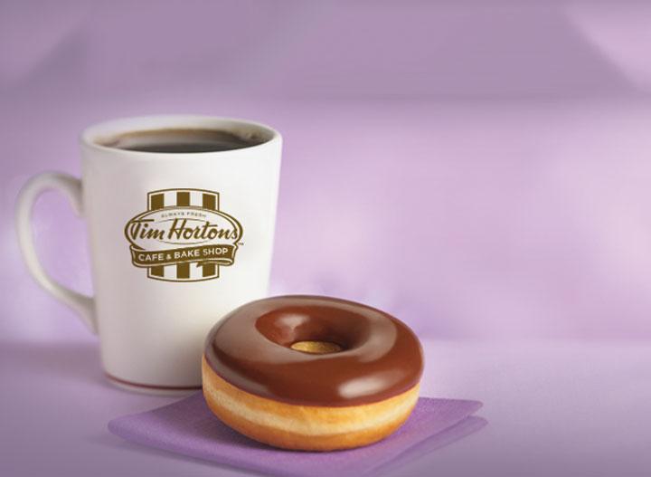 Tim horton chocolate glazed doughnut