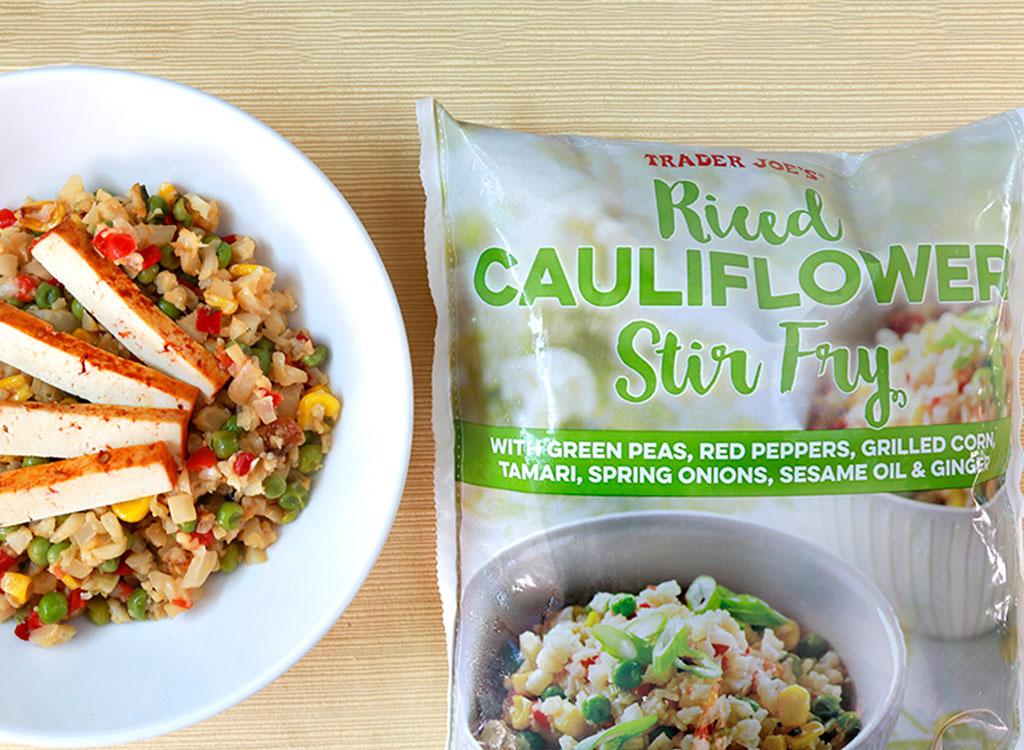 Trader joes riced cauliflower stir fry