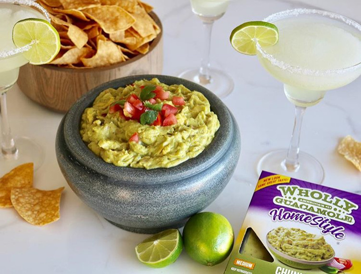 Wholly guacamole and chips