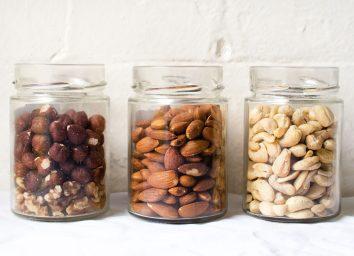 almond cashew walnut hazelnuts in jar