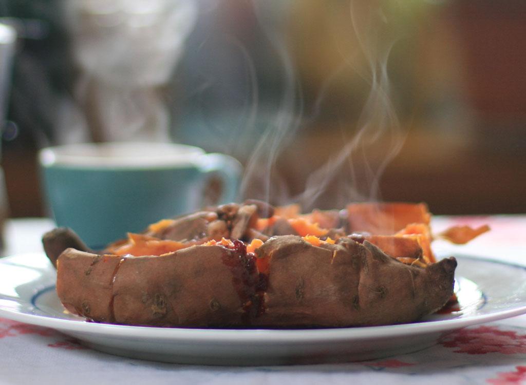 Baked sweet potato pecans