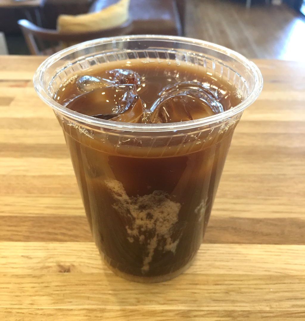 Collagen peptides coffee