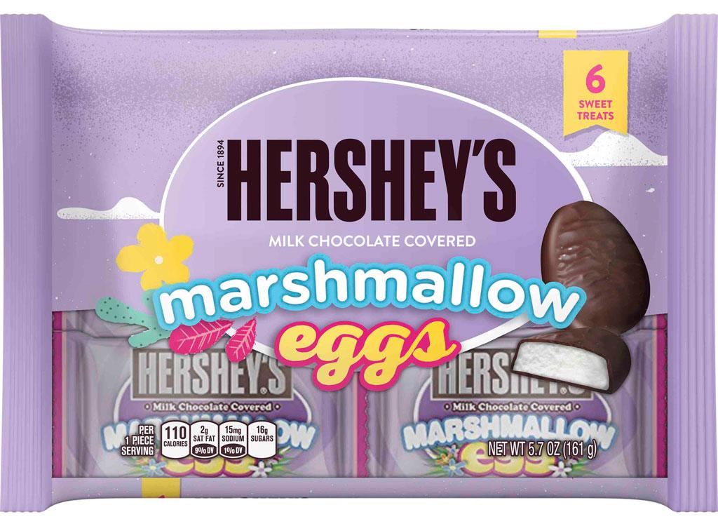 Hershey marshmallow chocolate eggs