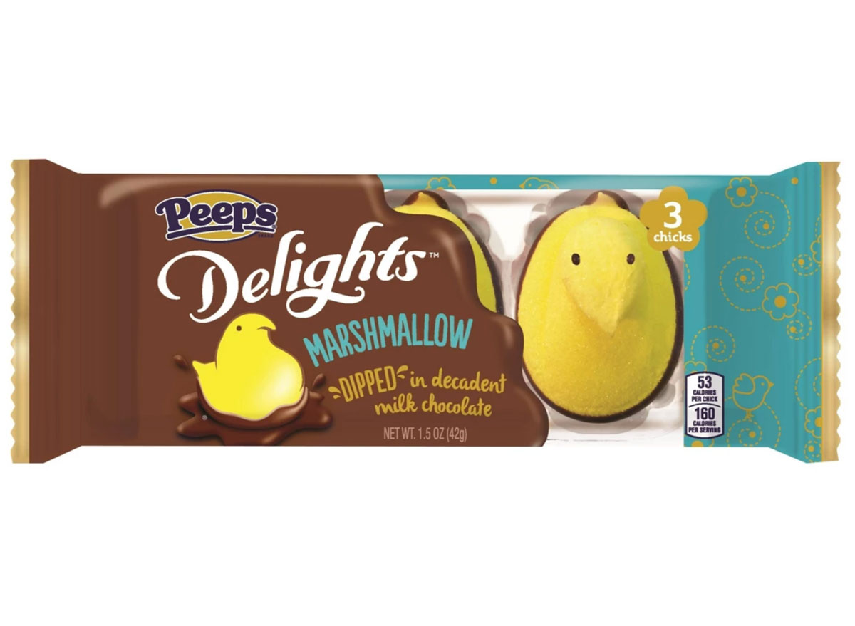Chocolate covered peeps delights marshmallow easter candy