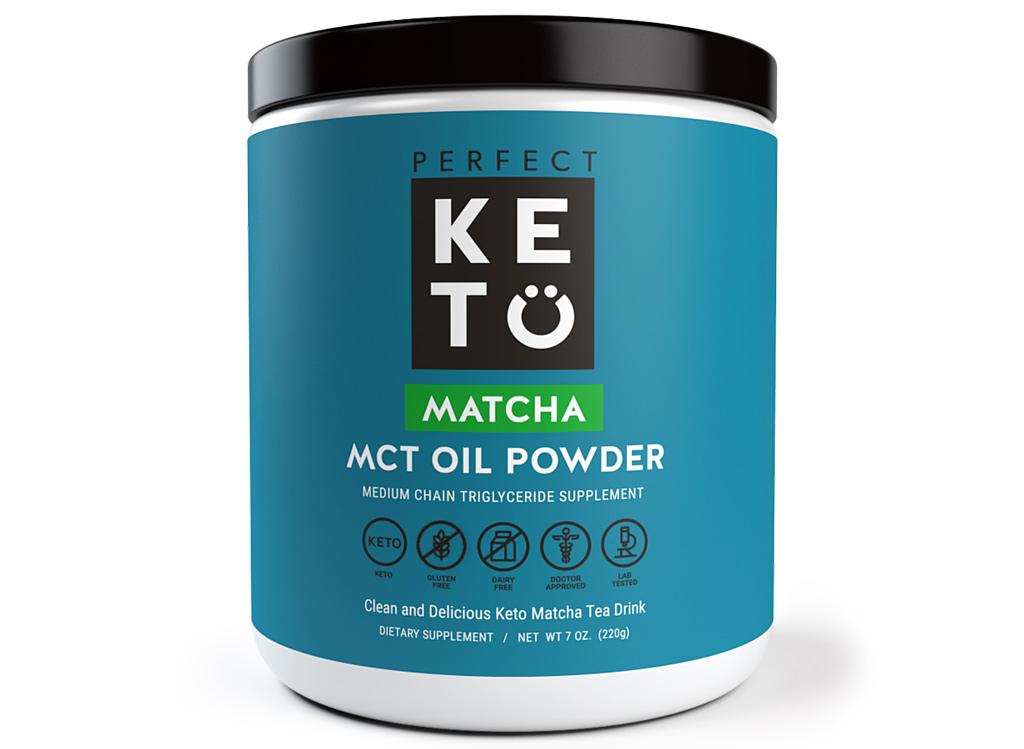 Perfect keto matcha mct oil powder