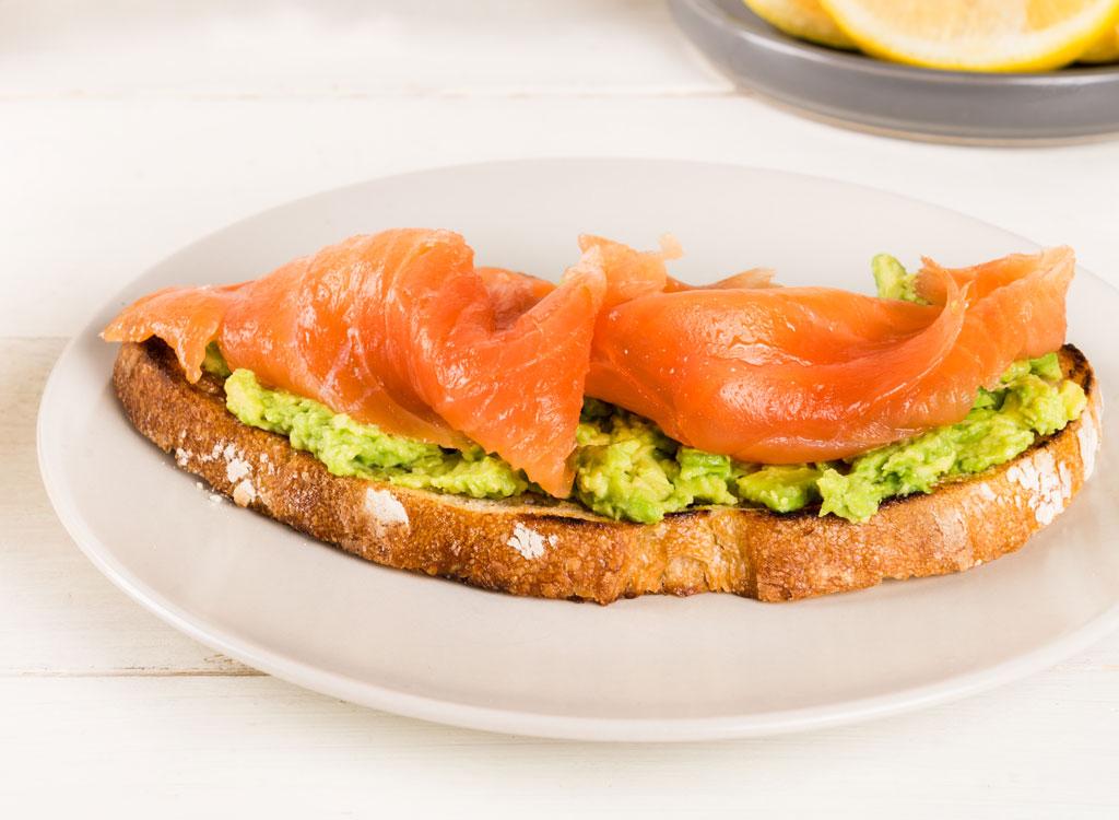Salmon lox toast