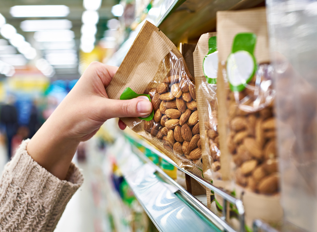 Bagged almonds - muscle building foods