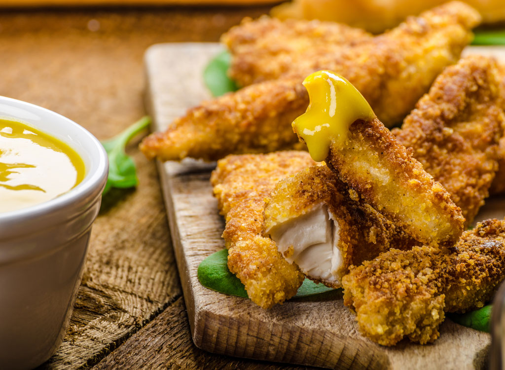 Chicken tenders mustard