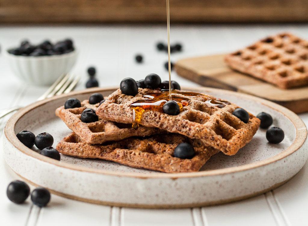 Toaster waffle blueberries