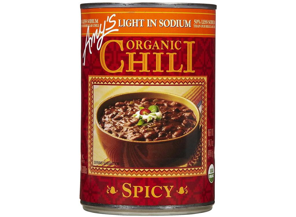 Amy's organic light in sodium spicy chili