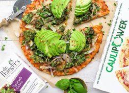 Caulipower dr praeger pizza with avocado