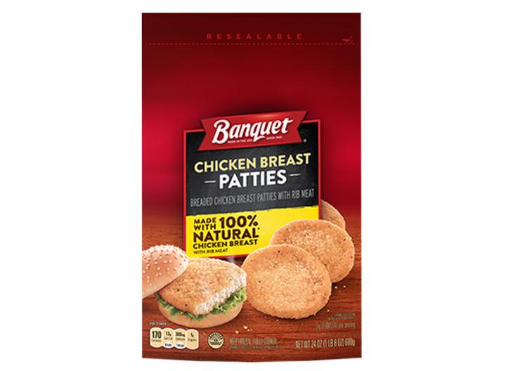 Banquet chicken patties
