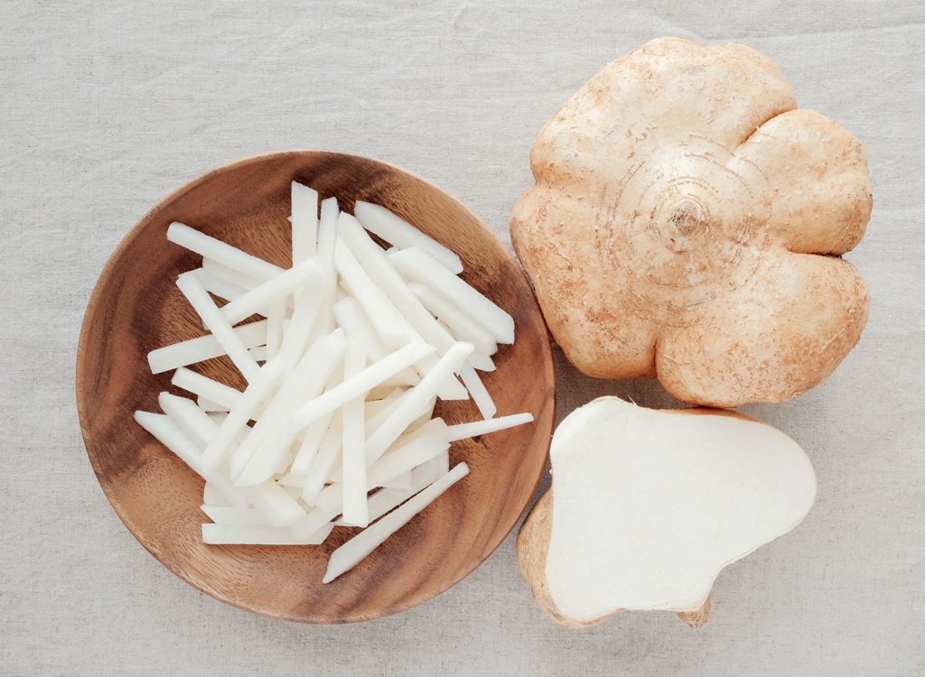 Jicama in bowl