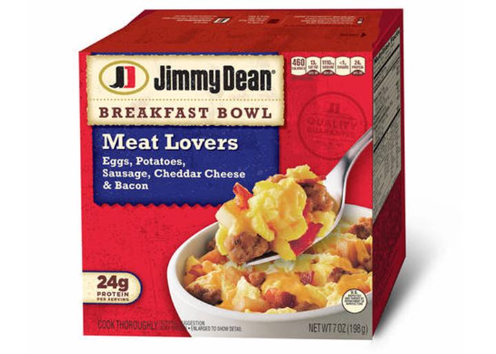 Jimmy dean meat lovers breakfast bowl egg sausage