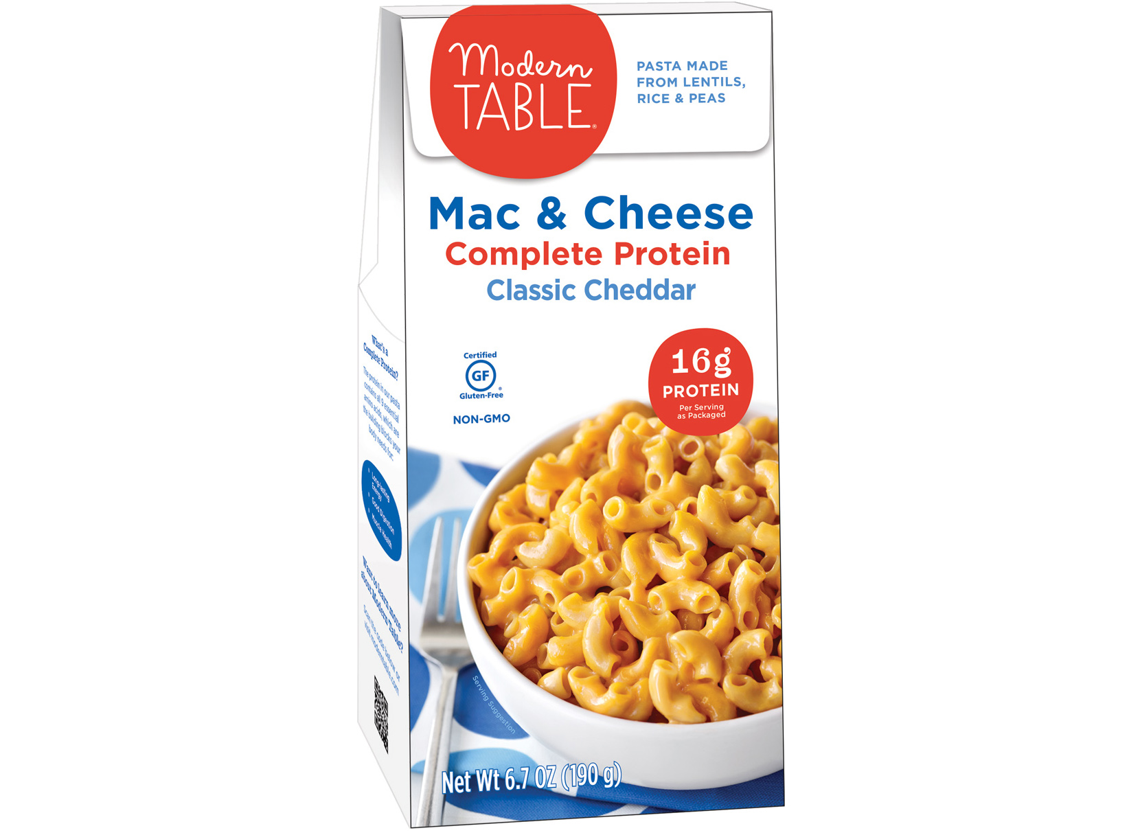 Modern Table complete protein cheddar mac and cheese