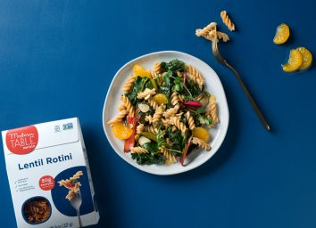 Modern Table lentil rotini with vegetables